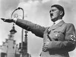 1934, Nuremberg, Germany --- Adolf Hitler Saluting, 1934 --- Image by © CORBIS