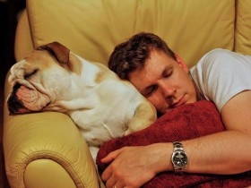 man-and-dog-sleeping