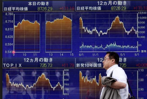 下げた日本株
