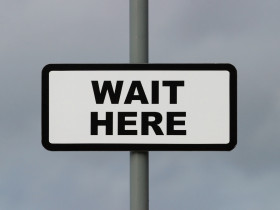 wait-here-sign